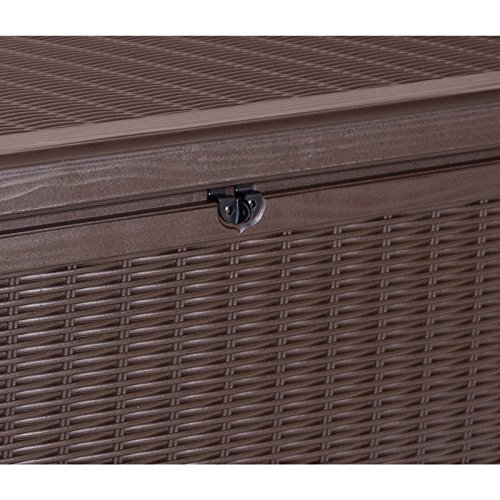 Keter Sumatra 57 In 135 Gallon All Weather Rattan Style