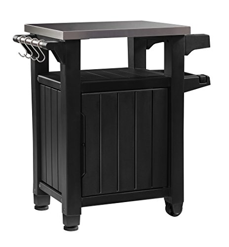 Keter-Unity-Indoor-Outdoor-BBQ-Entertainment-Storage-Table-Prep-Station-with-Metal-Top-0