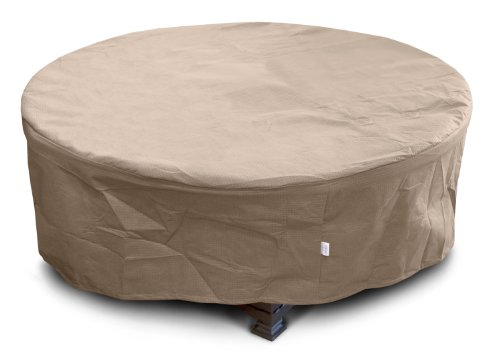 KoverRoos-III-33067-Large-Firepit-Cover-45-Inch-Diameter-by-21-Inch-Height-Taupe-0