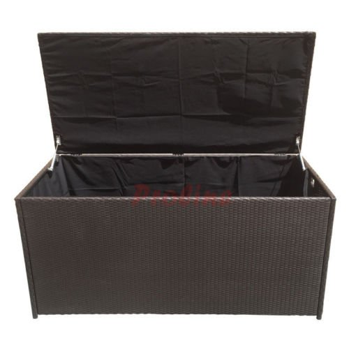 LARGE 64u201d Wicker Pillow Cushion Storage Box Chest Trunk Patio Deck Poolside  Toy Storing U2026