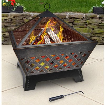 Landmann-25282-Barrone-Fire-Pit-with-Cover-26-Inch-Antique-Bronze-0