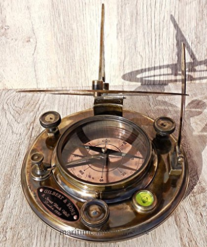 Large-8-Inch-Perfectly-Calibrated-Big-Sundial-Compass-with-Rosewood-Case-Top-Grade-C-3051-0-1