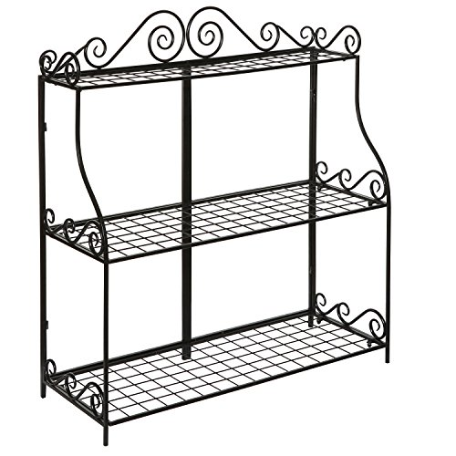 Large-Freestanding-Black-Metal-Scrollwork-3-Tier-Plant-Stand-Bathroom-Kitchen-Storage-Organizer-Shelf-Rack-0-1