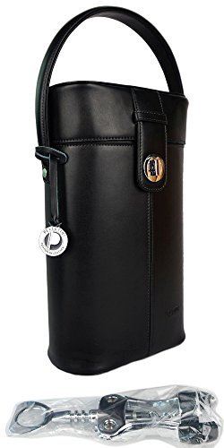 Leather-Wine-Carrier-Double-Wine-Bottle-Holder-Luxury-Real-Leather-Wine-Carrier-Tote-Wine-Bag-Wine-Purse-with-Wine-Bottle-Opener-Genuine-Leather-in-Gift-Box-Great-Birthday-Present-0