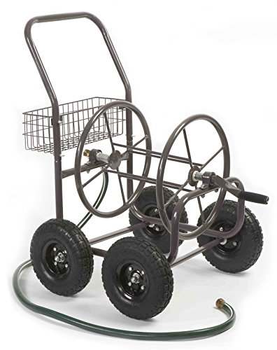 Liberty-Garden-Products-871-1-Residential-Grade-4-Wheel-Garden-Hose-Reel-Cart-with-250-Foot-Hose-Capacity-0