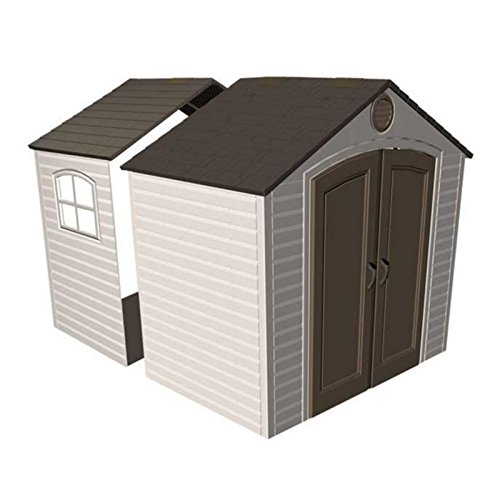 Lifetime-8-x-25-ft-Outdoor-Storage-Shed-Expansion-Kit-with-One-Window-0-0