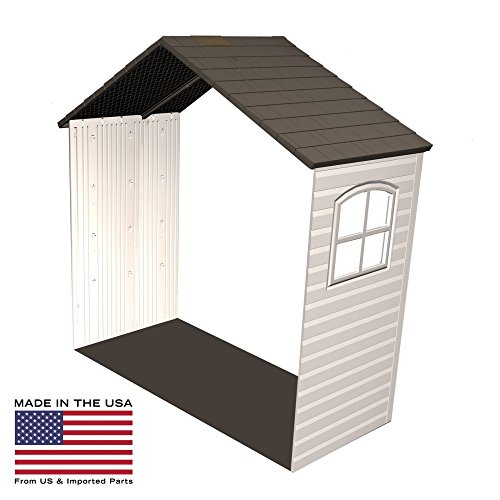 Lifetime-8-x-25-ft-Outdoor-Storage-Shed-Expansion-Kit-with-One-Window-0