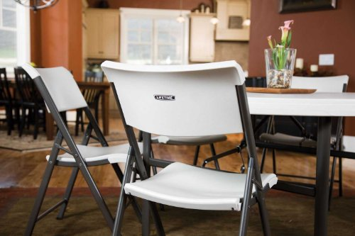 Lifetime 80191 Light Commercial Folding Chair White