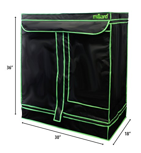 MILLIARD-30-x-18-x-36-100-Reflective-Mylar-Hydroponic-Grow-Tent-with-Window-Great-for-Indoor-Planting-and-Early-Seedling-Starters-0