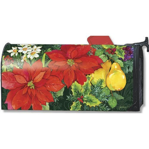 Fruit Products Mail: MailWraps Poinsettia Fruit Mailbox Cover 06395 By