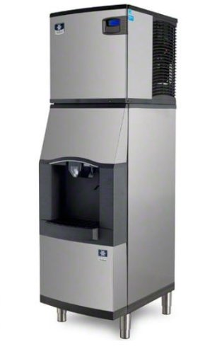 Manitowoc-ID-0523W-SFA-191-460-Lb-Water-Cooled-Full-Cube-Ice-Machine-w-SFA-191-Hotel-Dispenser-0