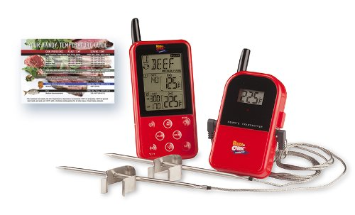 Maverick-ET-733-Long-Range-Digital-Wireless-Meat-Thermometer-Set-Dual-Probe-and-Dual-Temperature-Monitoring-With-Meat-Temperature-Magnet-Guide-Red-0-1