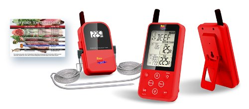 Maverick-ET-733-Long-Range-Digital-Wireless-Meat-Thermometer-Set-Dual-Probe-and-Dual-Temperature-Monitoring-With-Meat-Temperature-Magnet-Guide-Red-0