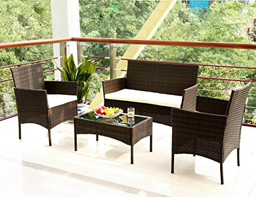 Merax-4-PC-Outdoor-Garden-Rattan-Patio-Furniture-Set-Cushioned-Seat-Wicker-Sofa-0-0