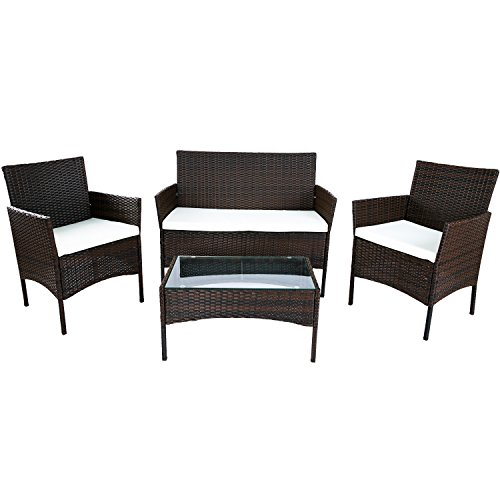 Merax-4-PC-Outdoor-Garden-Rattan-Patio-Furniture-Set-Cushioned-Seat-Wicker-Sofa-0
