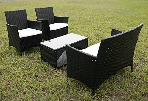 Merax-4-Piece-Outdoor-Patio-PE-Rattan-Wicker-Garden-Lawn-Sofa-Seat-Patio-Rattan-Furniture-Sets-0