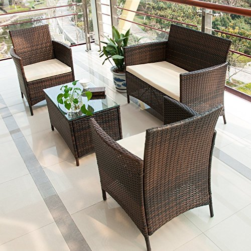 Merax-4-Piece-Patio-Rattan-Furniture-Set-Cushioned-Outdoor-Garden-Wicker-Rattan-furniture-0