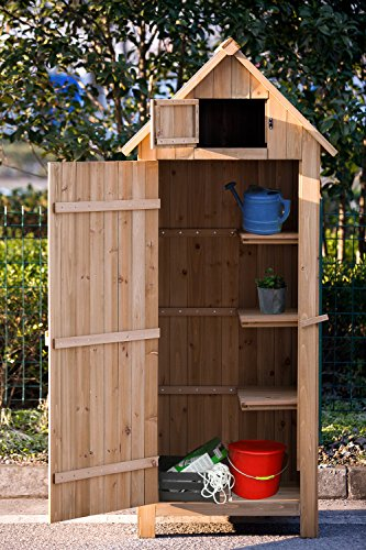 Merax-Wooden-Garden-Shed-Wooden-Lockers-with-Fir-Wood-Natural-wood-color-Arrow-shed-0-0