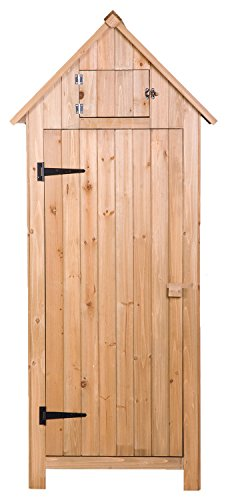 Merax-Wooden-Garden-Shed-Wooden-Lockers-with-Fir-Wood-Natural-wood-color-Arrow-shed-0