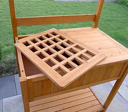 Merry garden potting bench with recessed storage farm - Potting bench with storage ...