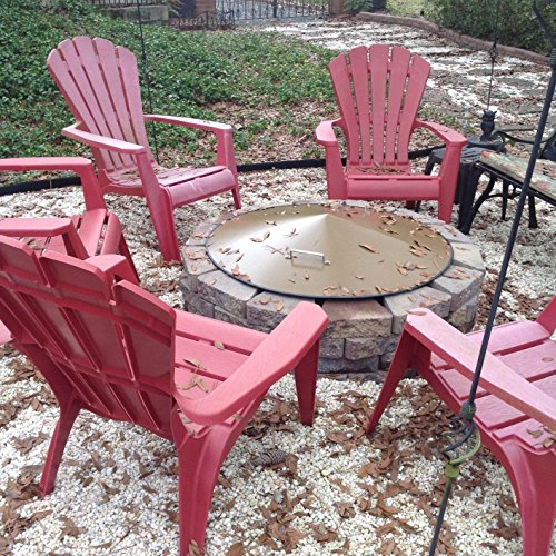 Metal-fire-pit-campfire-ring-spark-screen-cover-36-Diameter-0-1