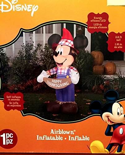 mickey mouse thanksgiving inflatable 38 foot scarecrow airblown yard decoration - Mickey Inflatable Christmas Decorations