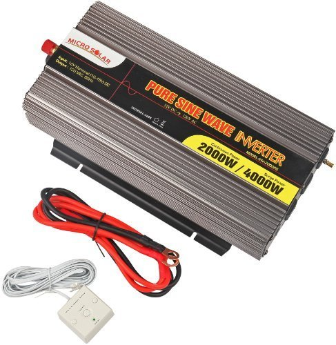 MicroSolar-12V-2000W-Peak-4000W-Pure-Sine-Wave-Inverter-with-Battery-Cable-Remote-Wire-Controller-0