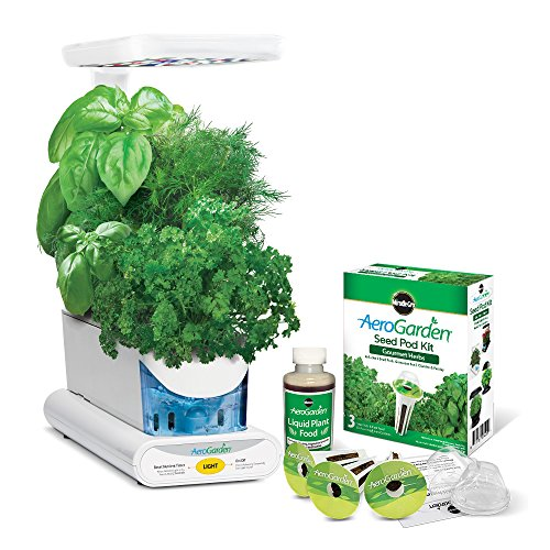 Miracle-Gro-AeroGarden-Sprout-LED-with-Gourmet-Herb-Seed-Pod-Kit-Black-0