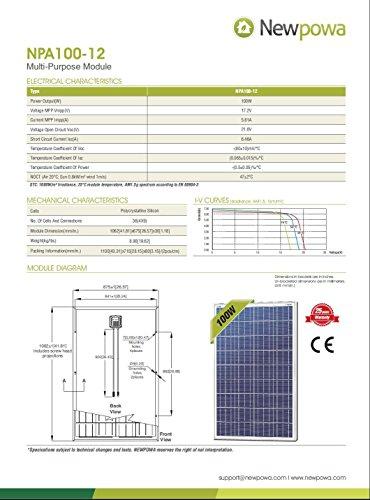 Newpowa-100W-Watt-12V-Solar-Panel-High-Efficiency-Poly-Module-Rv-Marine-Boat-Off-Grid-0-0