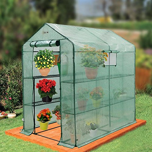 Ogrow-Large-Heavy-Duty-WALK-IN-2-Tier-8-Shelf-Portable-Lawn-and-Garden-Greenhouse-0