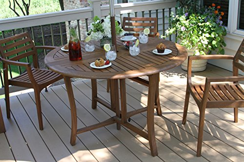 Outdoor-Interiors-Round-Folding-Table-48-Inch-Brown-0