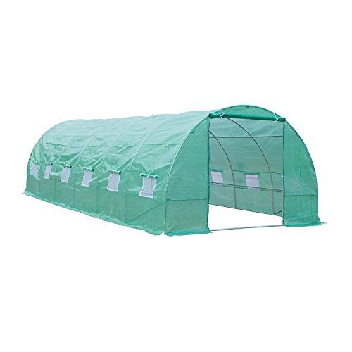 Outsunny-26-x-10-x-7-Portable-Walk-In-Garden-Greenhouse-Deep-Green-0
