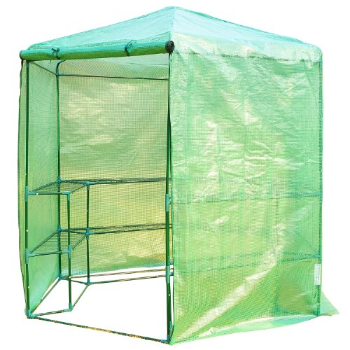 Outsunny-Portable-3-Tier-Shelf-Hexagonal-Walk-In-Greenhouse-75-Feet-0-1