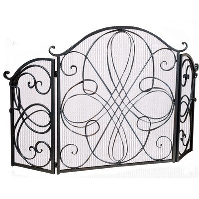 Oxford-3-Panel-Iron-Fireplace-Screen-Finish-Silver-0