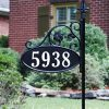 Park-Place-Oval-Reflective-911-Home-Address-Sign-for-Yard-with-Name-Rider-on-Garden-Flag-Post-Custom-Made-Address-Plaque-with-Name-Wrought-Iron-Look-Exclusively-By-Address-America-0-0