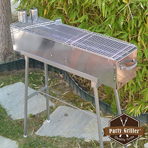 Party Griller 32 Stainless Steel Charcoal Grill Portable