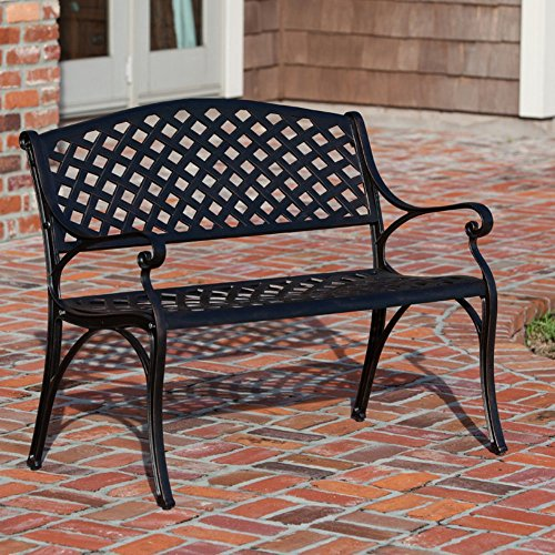 Patio Sense Antique Bronze 40 25 In Cast Aluminum Bench