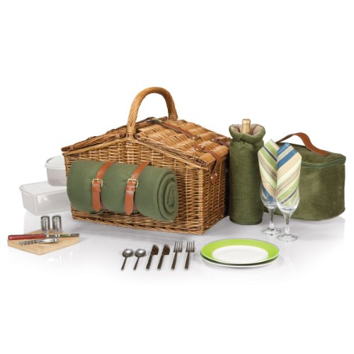 Picnic-Time-Somerset-English-Style-Double-Lid-Willow-Picnic-Basket-with-Service-for-2-0