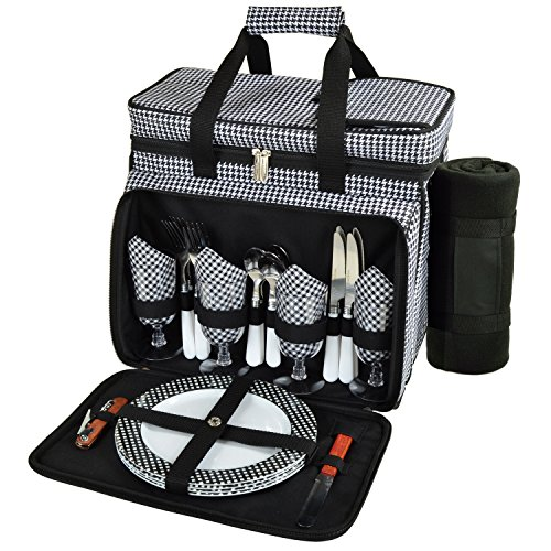 Picnic-at-Ascot-Equipped-Insulated-Picnic-Cooler-With-Blanket-Black-0