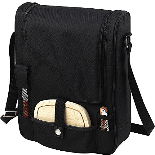 Picnic-at-Ascot-Wine-and-Cheese-Cooler-Bag-Equipped-for-2-with-Glasses-Napkins-Cutting-Board-Corkscrew-etc-Navy-0