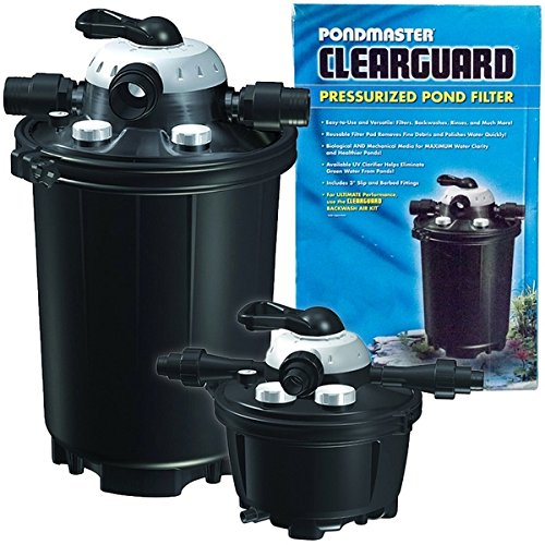 Pondmaster clearguard pressurized filter w uv pondmaster for Keeping ponds clean without filter