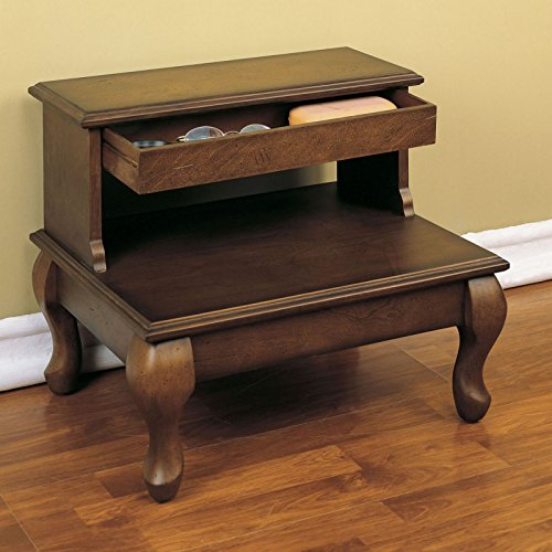 Powell-Attic-Cherry-Bed-Steps-with-Drawer-Antique-Cherry-0-0