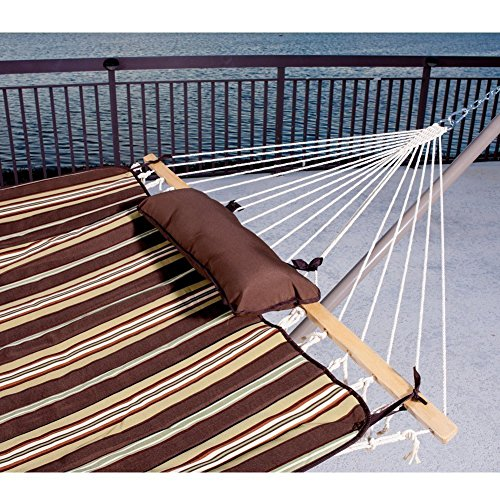 Prime-Garden-15FT-4-Piece-Heritage-Hammock-Essential-PackageAccommodate-2-person-100-Cotton-Rope-Polyester-Pad-And-Pillow-ComboCoated-Steel-FrameRust-Resistant-Weight-limit-450-lb-0-0