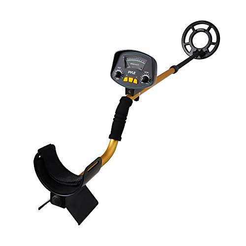 Pyle-PHMD53-Treasure-Hunting-Metal-Detector-with-Waterproof-Submergible-Search-Coil-10-Level-Discrimination-Built-in-Speakers-and-Headphone-Jack-0