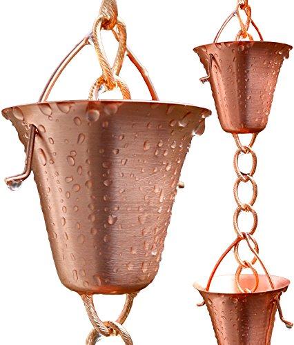 Rain Chain Pure Copper By Golden Canary Ready To