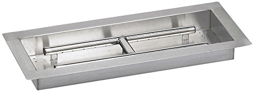 Rectangular Gas Fire Pit Drop In Tray and Burner With
