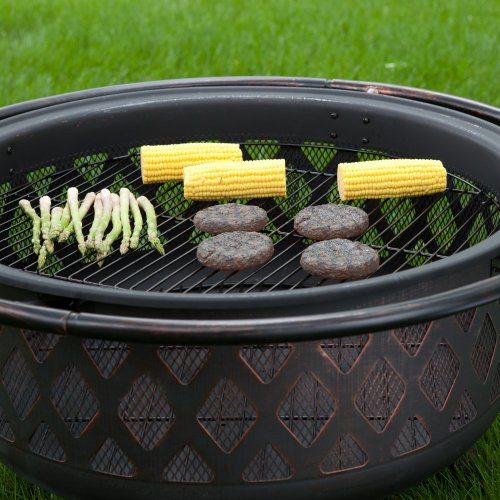 Red-Ember-Bronze-Crossweave-Firebowl-Fire-Pit-with-FREE-Grill-Grate-and-Cover-LR32-CGG-0-1
