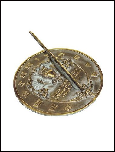 Rome-2329-Thoreau-Sundial-Solid-Brass-with-Verdigris-Highlights-85-Inch-Diameter-0