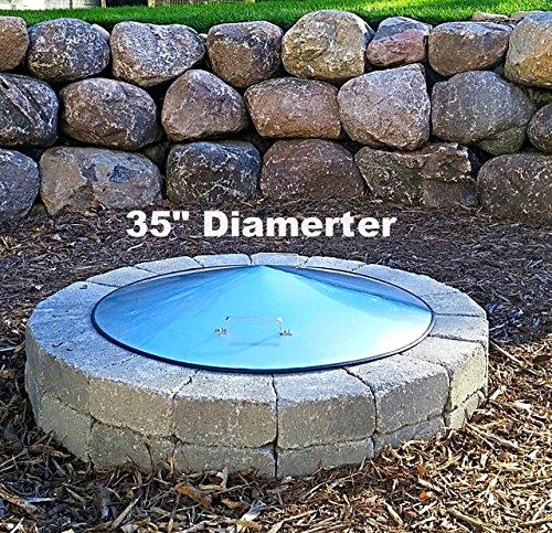 Round Stainless Steel Fire Pit Ring Cover 35 Diameter
