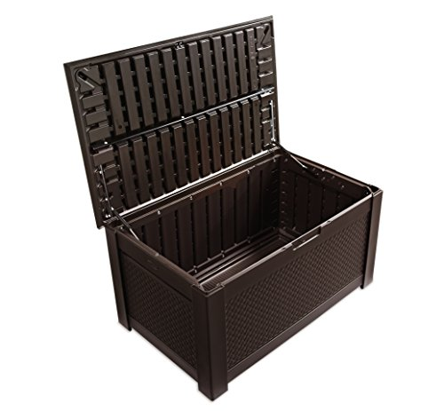 Rubbermaid-Patio-Chic-Plastic-Storage-Trunk-Dark-Teak-Basket-Weave-0-0